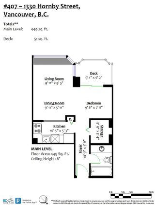 """Photo 22: 407 1330 HORNBY Street in Vancouver: Downtown VW Condo for sale in """"HORNBY COURT"""" (Vancouver West)  : MLS®# R2522576"""