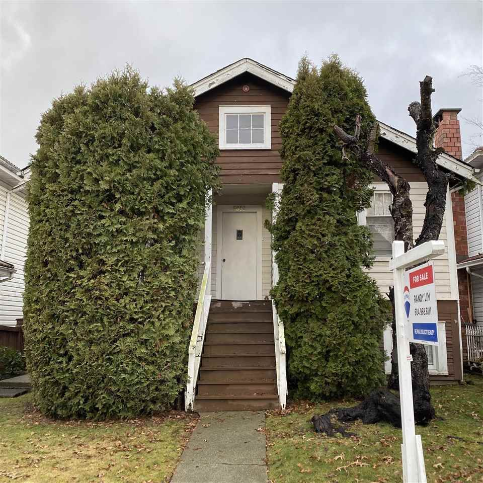 Main Photo: 5883 SOPHIA Street in Vancouver: Main House for sale (Vancouver East)  : MLS®# R2532022