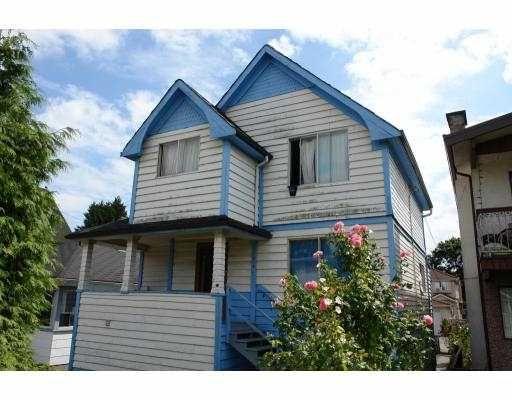 Main Photo: 1816 E 12TH AV in : Grandview VE House for sale : MLS®# V724137