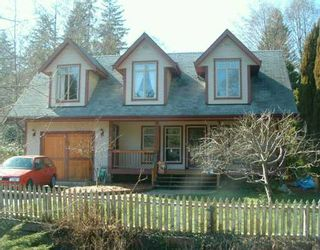 Photo 1: 319 BURNS RD in Gibsons: Gibsons & Area House for sale (Sunshine Coast)  : MLS®# V580513