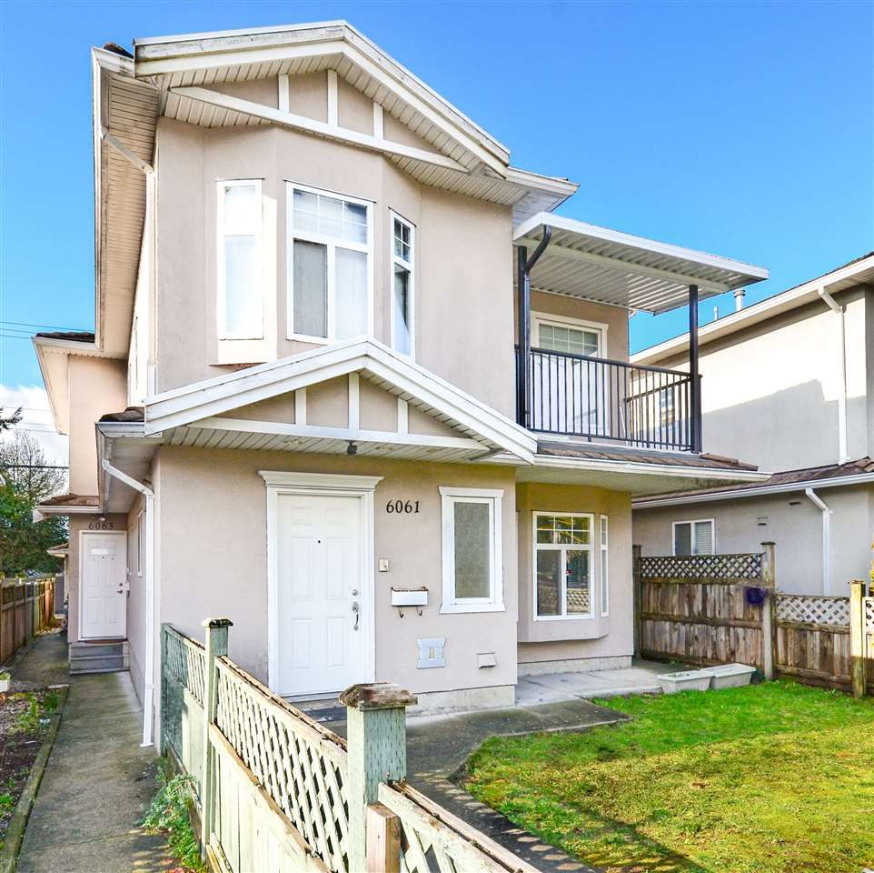 Main Photo: 6061 MAIN STREET in Vancouver: Main 1/2 Duplex for sale (Vancouver East)  : MLS®# R2536550