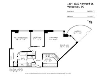Photo 26: 1104 1020 HARWOOD Street in Vancouver: West End VW Condo for sale (Vancouver West)  : MLS®# R2617196