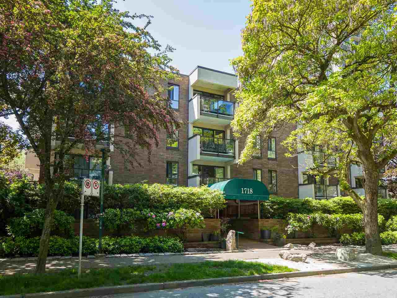 Main Photo: 405 1718 NELSON STREET in Vancouver: West End VW Condo for sale (Vancouver West)  : MLS®# R2376890