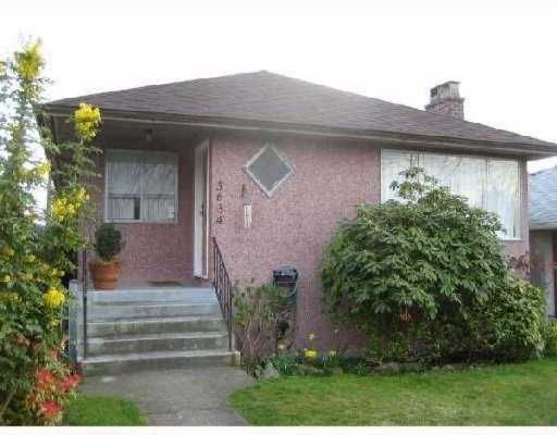 Main Photo: 3634 PANDORA Street in Vancouver: Hastings East House for sale (Vancouver East)  : MLS®# V768833