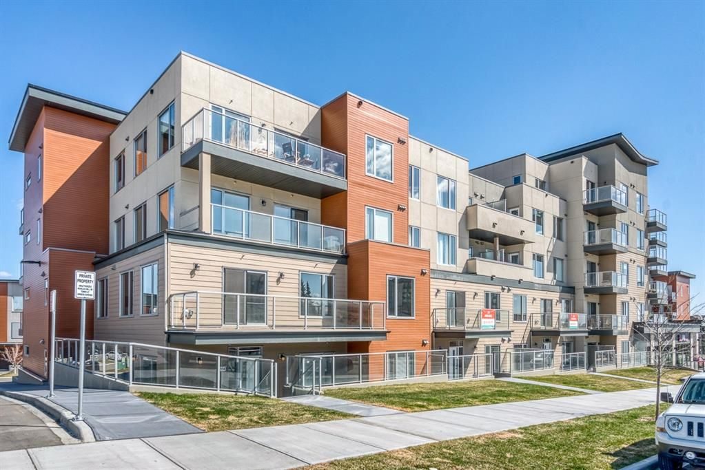 Main Photo: 114 71 Shawnee Common SW in Calgary: Shawnee Slopes Apartment for sale : MLS®# A1099362