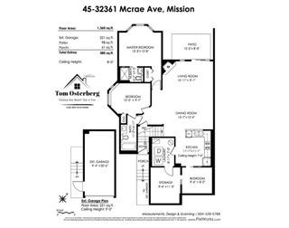"""Photo 3: 45 32361 MCRAE Avenue in Mission: Mission BC Townhouse for sale in """"Spencer Estates"""" : MLS®# R2433834"""