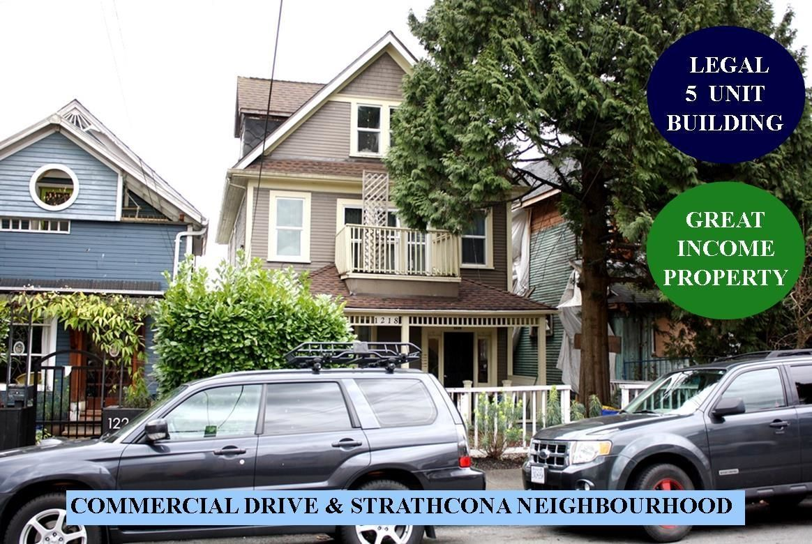 Main Photo: 1218 E GEORGIA Street in Vancouver: Strathcona Multi-Family Commercial for sale (Vancouver East)  : MLS®# C8040644