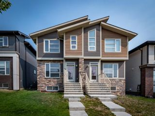 Main Photo: 90 Sage Bluff Gate NW in Calgary: Sage Hill Semi Detached for sale : MLS®# A1135000