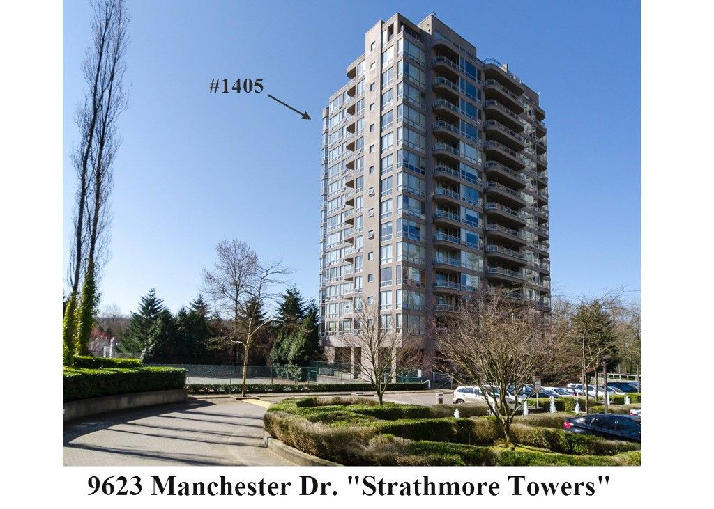 """Main Photo: 1405 9623 MANCHESTER Drive in Burnaby: Cariboo Condo for sale in """"STRATHMORE TOWERS"""" (Burnaby North)  : MLS®# V1053890"""