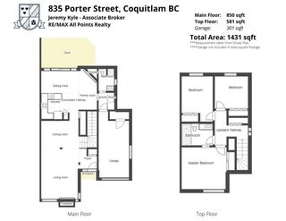 Photo 2: 835 PORTER Street in Coquitlam: Harbour Chines 1/2 Duplex for sale : MLS®# R2576039