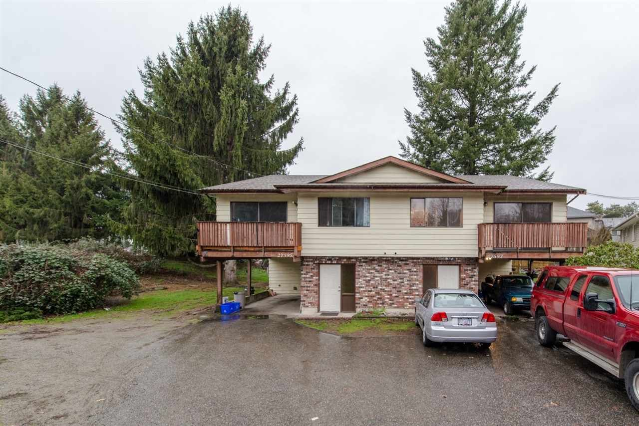 Main Photo: 27595 - 27597 28 Avenue in Langley: Aldergrove Langley Duplex for sale : MLS®# R2031731