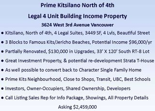 Photo 5: 3624 W 3RD Avenue in Vancouver: Kitsilano House for sale (Vancouver West)  : MLS®# R2463734