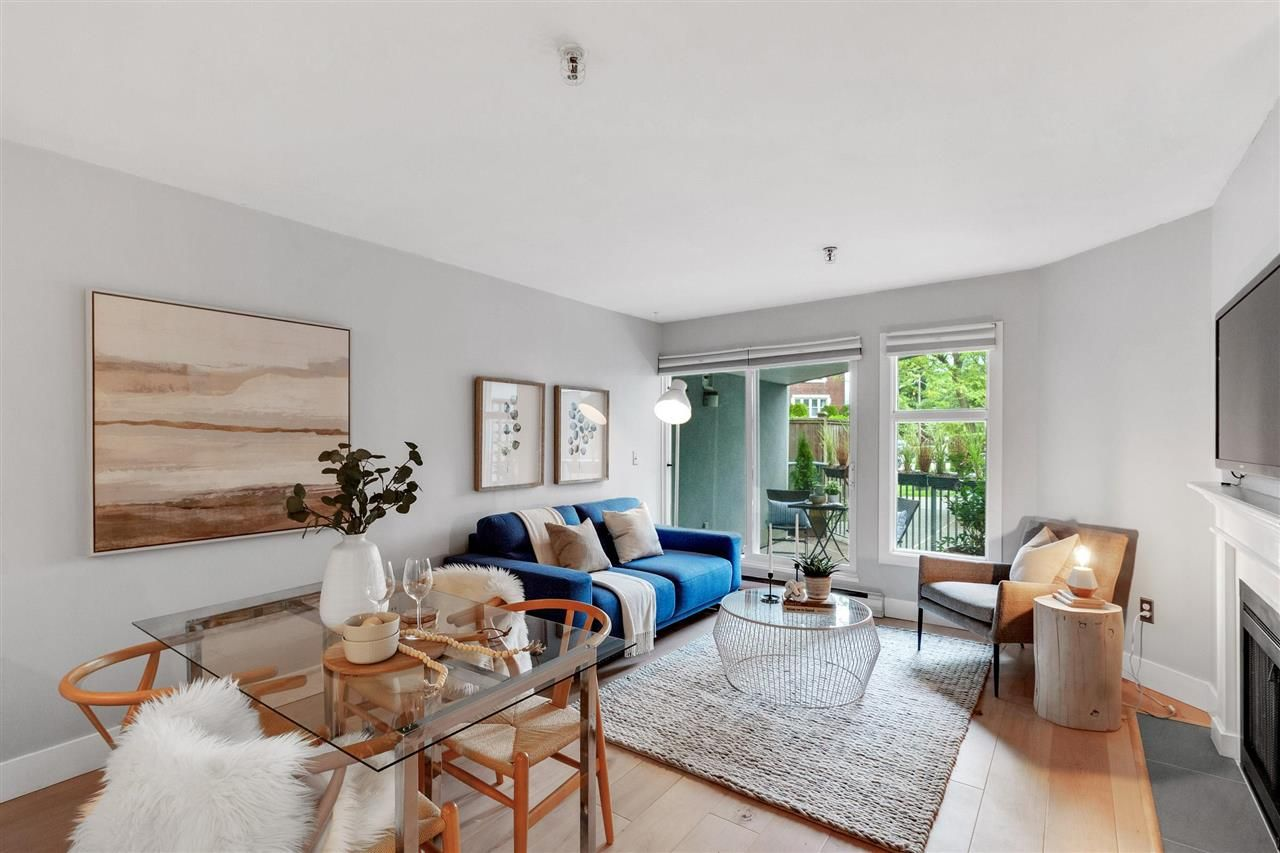 Main Photo: 108 2020 W 8 AVENUE in Vancouver: Kitsilano Townhouse for sale (Vancouver West)  : MLS®# R2585715
