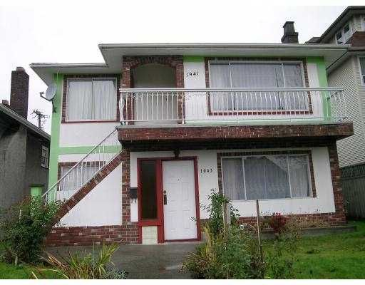 Main Photo: 1941 1943 E 12TH AV in Vancouver: Grandview VE Duplex for sale (Vancouver East)  : MLS®# V563888