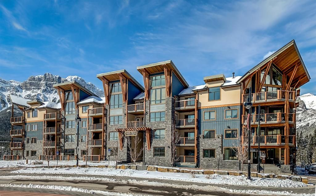 Main Photo: 107 1105 Spring Creek Drive: Canmore Apartment for sale : MLS®# A1104158