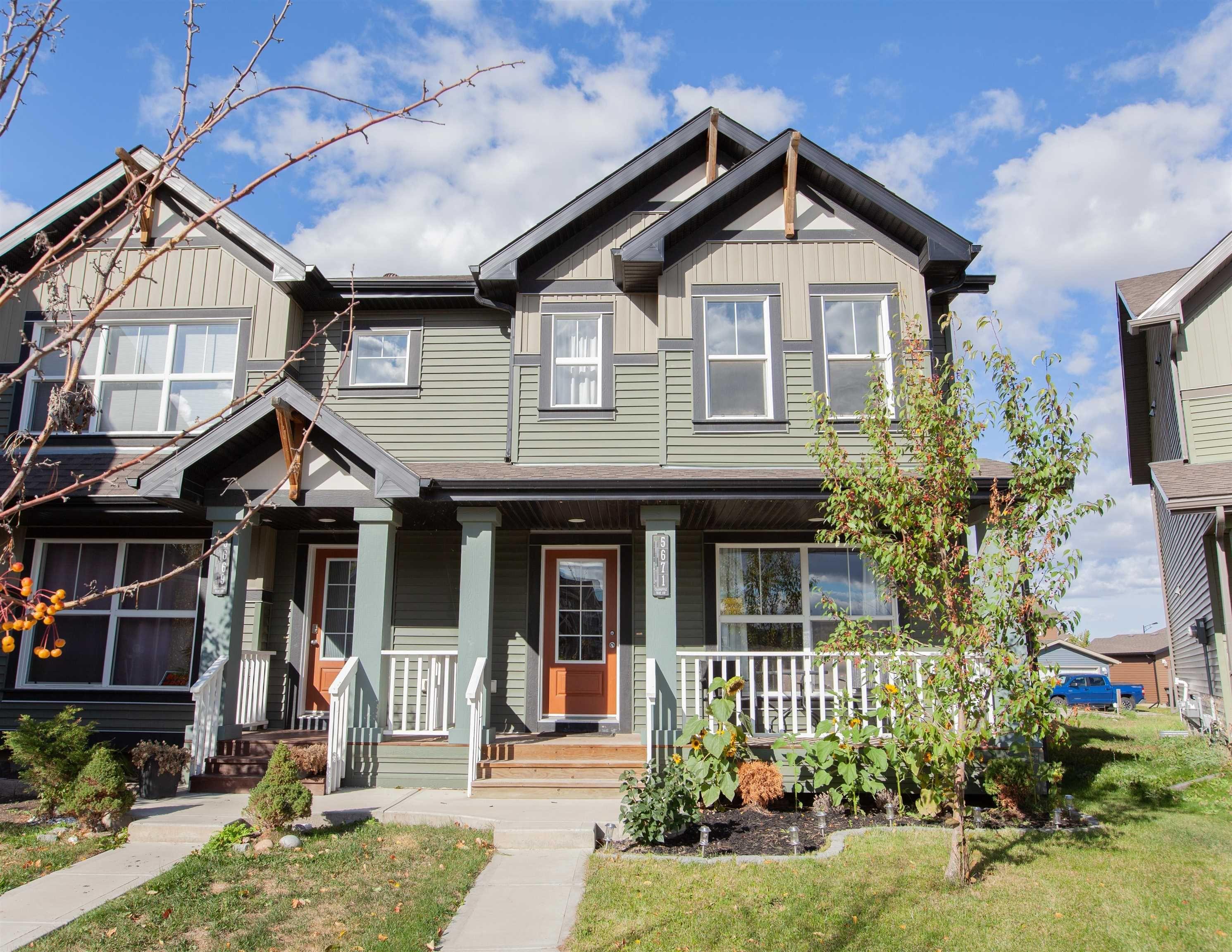 Main Photo: 5671 CRABAPPLE Way SW in Edmonton: Zone 53 House Half Duplex for sale : MLS®# E4263312