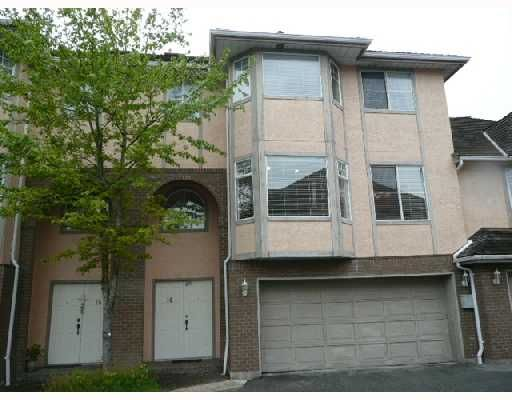 Main Photo: 14 8120 GENERAL CURRIE Road in Richmond: Brighouse South Townhouse for sale : MLS®# V711088