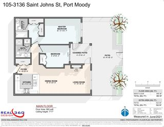 """Photo 1: 105 3136 ST JOHNS Street in Port Moody: Port Moody Centre Condo for sale in """"SONRISA"""" : MLS®# R2594190"""