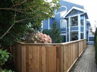 Photo 1: 836 W 13TH Avenue in Vancouver: Fairview VW 1/2 Duplex for sale (Vancouver West)  : MLS®# V818528