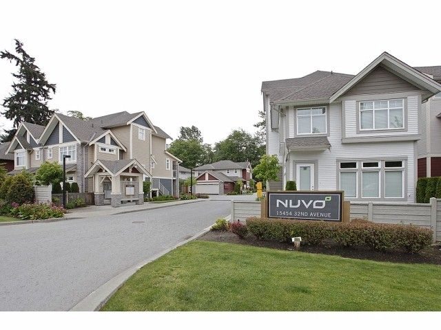 """Main Photo: 2 15454 32ND Avenue in Surrey: Grandview Surrey Townhouse for sale in """"Nuvo"""" (South Surrey White Rock)  : MLS®# F1324116"""
