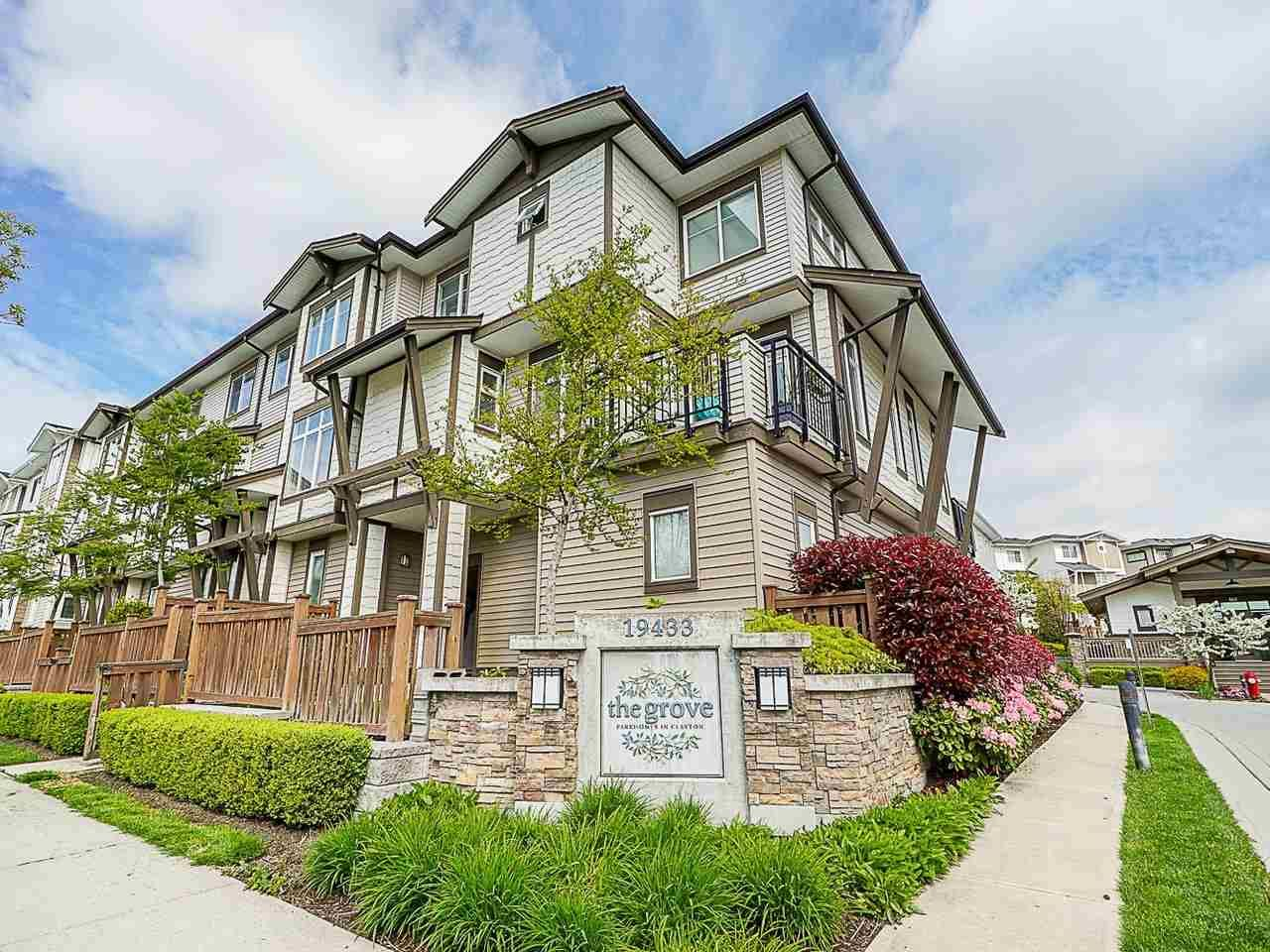 """Main Photo: 89 19433 68 Avenue in Surrey: Clayton Townhouse for sale in """"THE GROVE"""" (Cloverdale)  : MLS®# R2454192"""