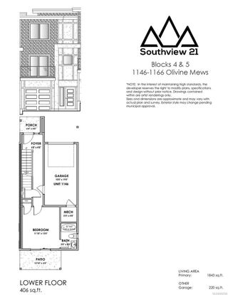 Photo 3: 1150 Olivine Mews in : La Bear Mountain Row/Townhouse for sale (Langford)  : MLS®# 882566