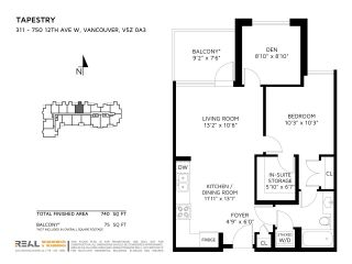 """Photo 16: 311 750 W 12TH Avenue in Vancouver: Fairview VW Condo for sale in """"TAPESTRY"""" (Vancouver West)  : MLS®# R2201307"""