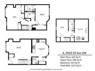 Photo 7: 4 3910 19 Avenue SW in Calgary: Glendale Row/Townhouse for sale : MLS®# A1095449