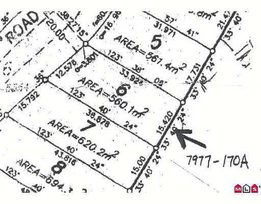 Main Photo: 7977 170A ST in Surrey: Fleetwood Tynehead Land for sale : MLS®# F2616456