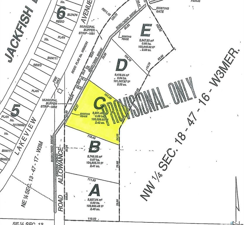 Main Photo: Parcel C-Days Beach Acres-Behind Days Beach in Jackfish Lake: Lot/Land for sale : MLS®# SK859681