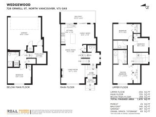 """Photo 36: 728 ORWELL Street in North Vancouver: Lynnmour Townhouse for sale in """"Wedgewood by Polygon"""" : MLS®# R2454255"""