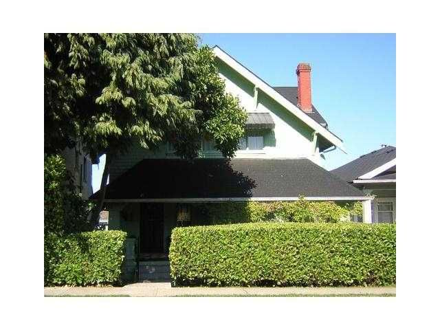 Main Photo: 1877 W 37TH Avenue in Vancouver: Quilchena House for sale (Vancouver West)  : MLS®# V900692