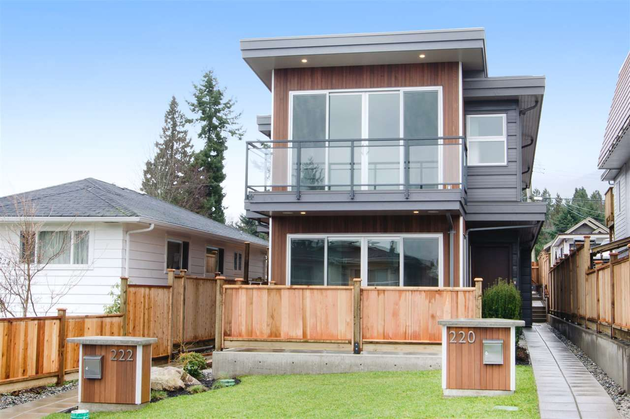 Main Photo: 2 220 W 18TH Street in North Vancouver: Central Lonsdale 1/2 Duplex for sale : MLS®# R2000780