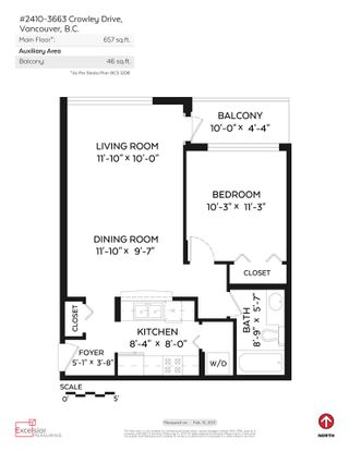 """Photo 20: 2410 3663 CROWLEY Drive in Vancouver: Collingwood VE Condo for sale in """"LATITUTDE"""" (Vancouver East)  : MLS®# R2140003"""