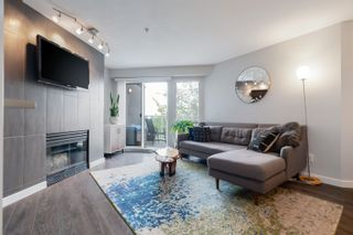 """Photo 1: 408 8430 JELLICOE Street in Vancouver: South Marine Condo for sale in """"Boardwalk"""" (Vancouver East)  : MLS®# R2620005"""
