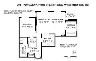 Photo 16: 901 720 CARNARVON Street in New Westminster: Downtown NW Condo for sale : MLS®# R2448057