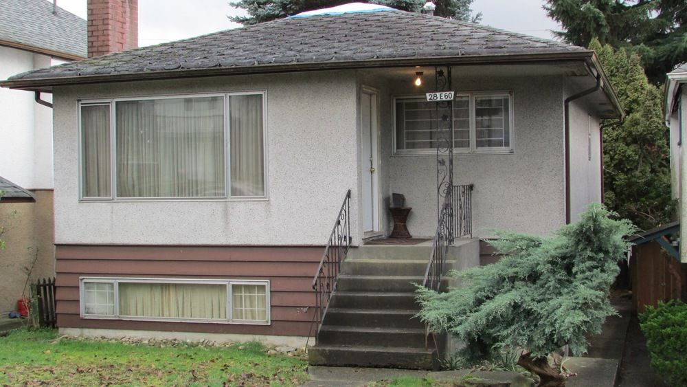 Main Photo: 28 East 60th Ave in Vancouver: Home for sale : MLS®# R2033044