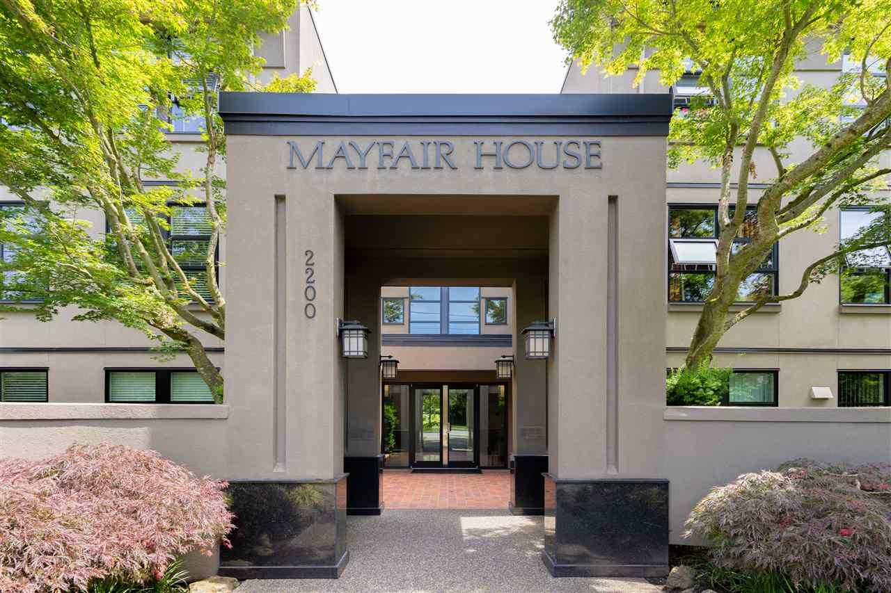 """Main Photo: 302 2200 HIGHBURY Street in Vancouver: Point Grey Condo for sale in """"MAYFAIR HOUSE"""" (Vancouver West)  : MLS®# R2471267"""