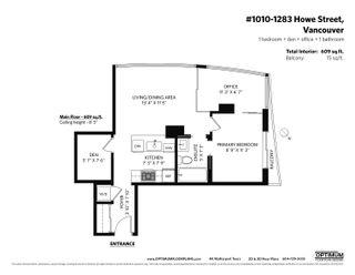 """Photo 19: 1010 1283 HOWE Street in Vancouver: Downtown VW Condo for sale in """"Tate"""" (Vancouver West)  : MLS®# R2607707"""