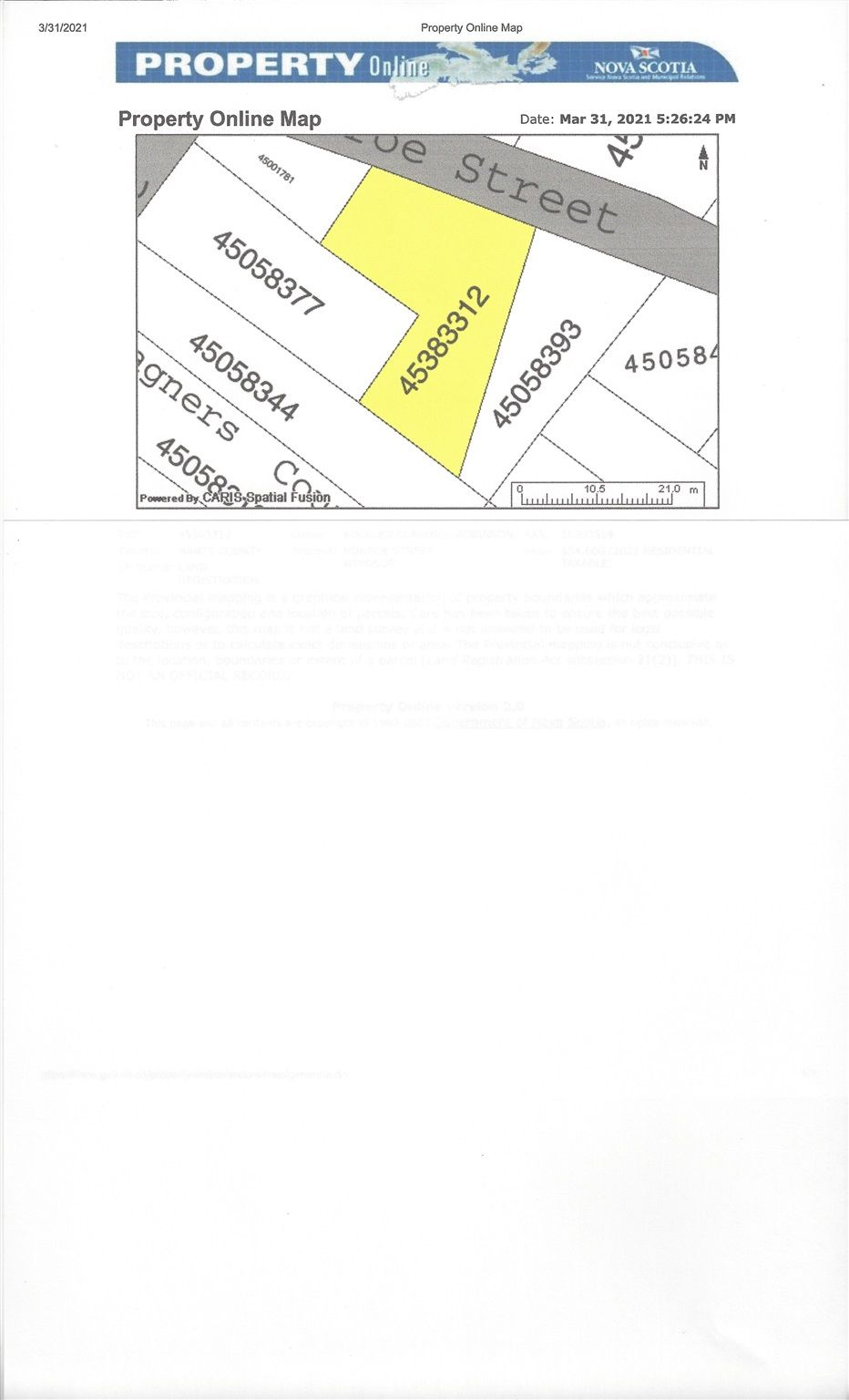 Photo 2: Photos: lot Munroe Street in Windsor: 403-Hants County Vacant Land for sale (Annapolis Valley)  : MLS®# 202107036