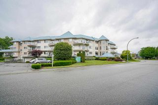 """Photo 1: 309 7685 AMBER Drive in Chilliwack: Sardis West Vedder Rd Condo for sale in """"The Sapphire"""" (Sardis)  : MLS®# R2592956"""