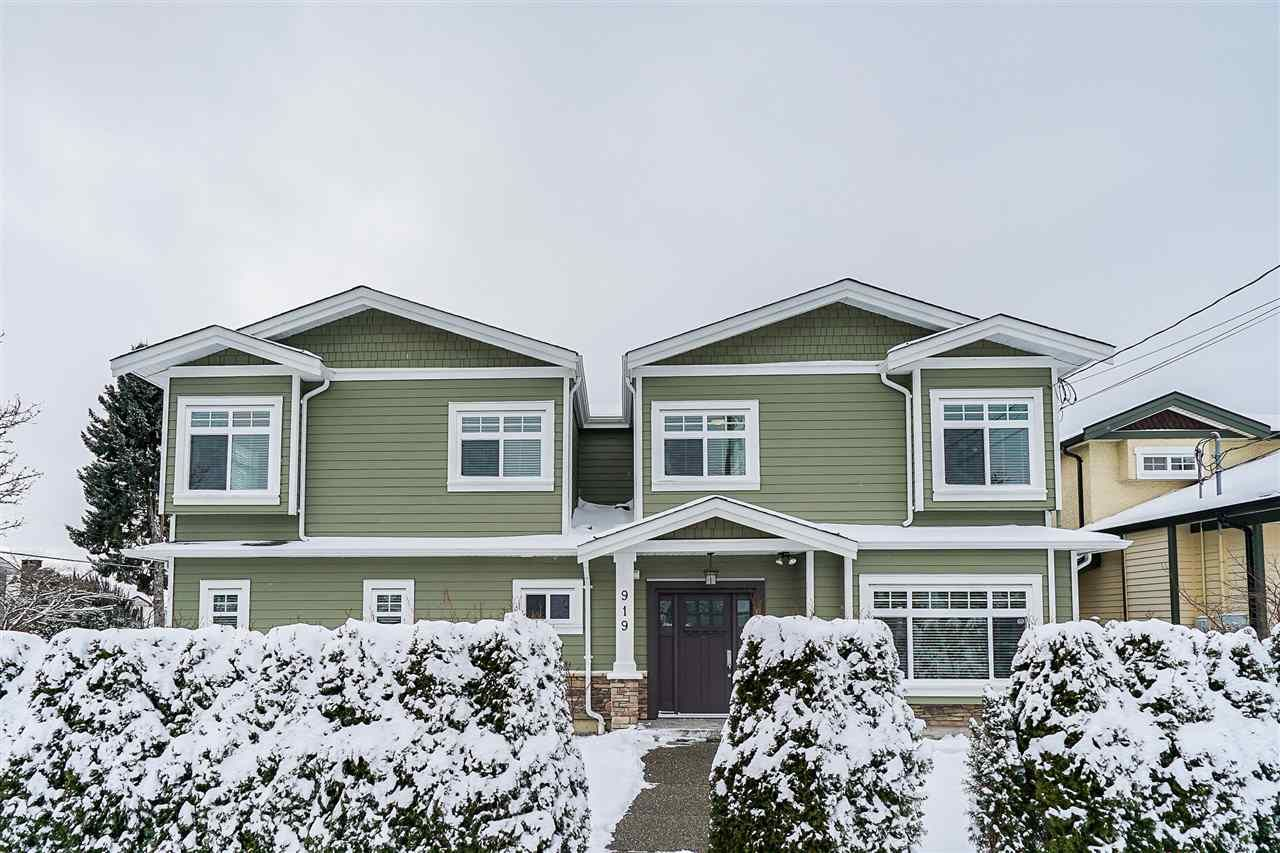 Main Photo: 919 CLIFF AVENUE in Burnaby: Sperling-Duthie 1/2 Duplex for sale (Burnaby North)  : MLS®# R2428670