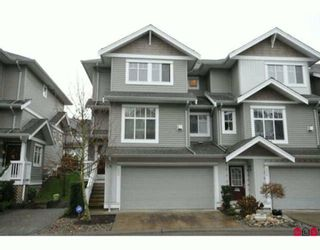 """Photo 1: 35 16760 61ST Avenue in Surrey: Cloverdale BC Townhouse for sale in """"Harvest Landing"""" (Cloverdale)  : MLS®# F2927875"""