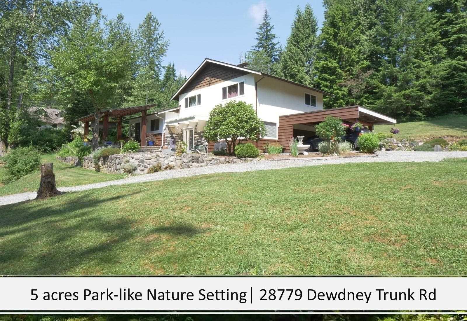 Main Photo: 28779 DEWDNEY TRUNK Road in Maple Ridge: Northeast House for sale : MLS®# R2597212