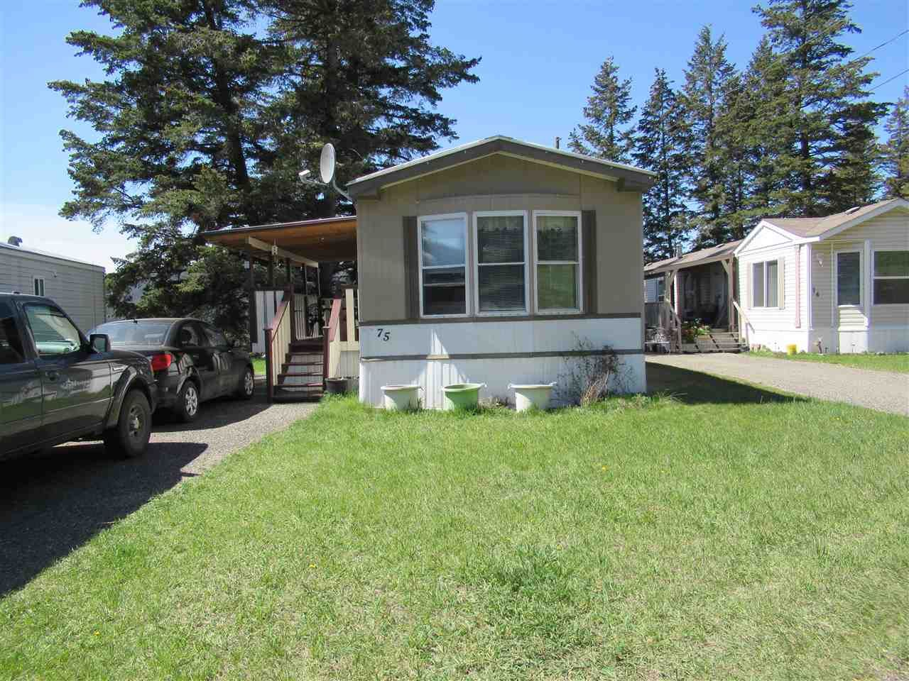 Main Photo: 75 770 11TH Avenue in Williams Lake: Williams Lake - City Manufactured Home for sale (Williams Lake (Zone 27))  : MLS®# R2368538