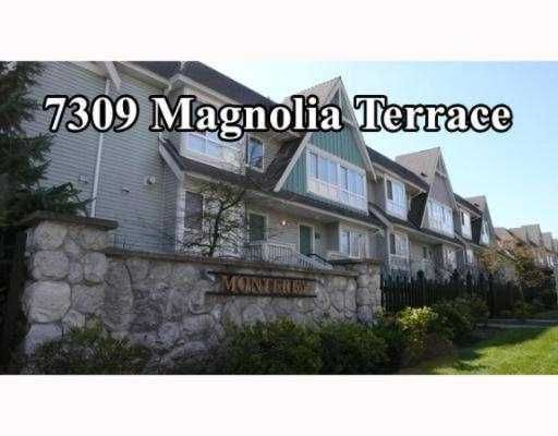 "Main Photo: 7309 MAGNOLIA Terrace in Burnaby: Middlegate BS Townhouse for sale in ""MONTEREY"" (Burnaby South)  : MLS®# V638772"