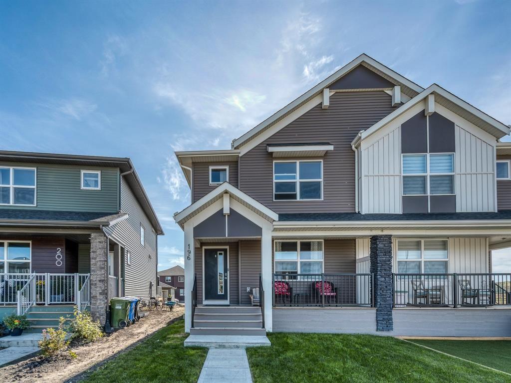 Main Photo: 196 Creekstone Square SW in Calgary: C-168 Semi Detached for sale : MLS®# A1144599