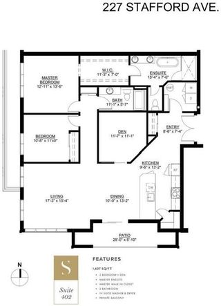 Photo 3: 402 227 Stafford Avenue in Winnipeg: Crescentwood Condominium for sale (1B)  : MLS®# 202123562