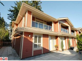 """Photo 1: 5 14921 THRIFT Avenue: White Rock Townhouse for sale in """"NICOLE PLACE"""" (South Surrey White Rock)  : MLS®# F1025156"""