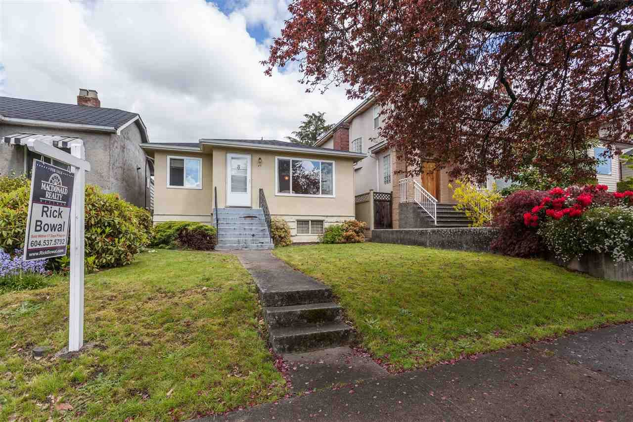 Main Photo: 57 W 42ND Avenue in Vancouver: Oakridge VW House for sale (Vancouver West)  : MLS®# R2164949